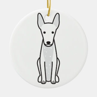 Xoloitzcuintli Dog Cartoon Round Ceramic Decoration