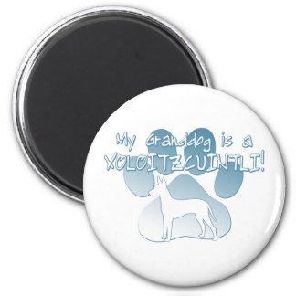 Xoloitzcuintli Granddog 6 Cm Round Magnet
