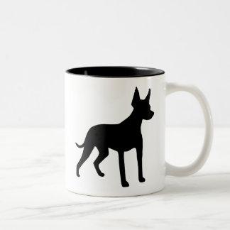 Xoloitzcuintli (Mexican Hairless Dog) Gear Two-Tone Coffee Mug