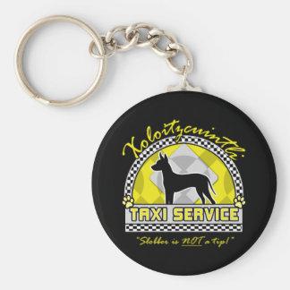 Xoloitzcuintli Taxi Service Basic Round Button Key Ring