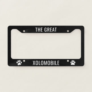 Xolomobile Xoloitzcuintli Licence Plate Frame