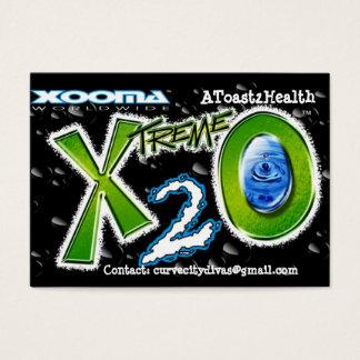 Xooma X2O A toast 2Health Business Card