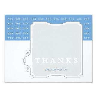 XOX Boy Custom Thank You Note Card 11 Cm X 14 Cm Invitation Card