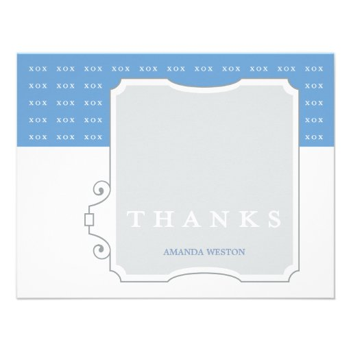 XOX Boy Custom Thank You Note Card