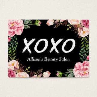 XOXO Beauty SPA Salon Elegant Floral Wrapping Business Card
