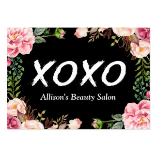XOXO Beauty SPA Salon Elegant Floral Wrapping Pack Of Chubby Business Cards