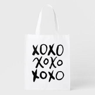 XOXO | Black Brush Script Reusable Grocery Bag