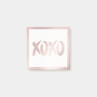 XOXO Blush Pink | Modern Soft Brushstroke Script Post-it Notes
