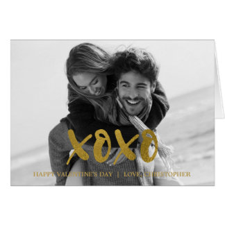 XOXO Gold Foil Valentine's Day Photo Card