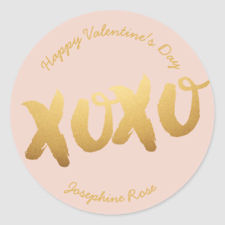 XOXO Gold Love Hugs Kisses Stickers Custom Color