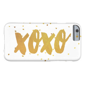 XOXO Gold Shimmer Confetti Barely There iPhone 6 Case