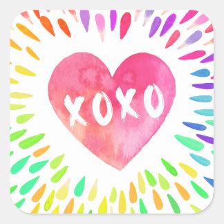 XoXo Heart Square Sticker
