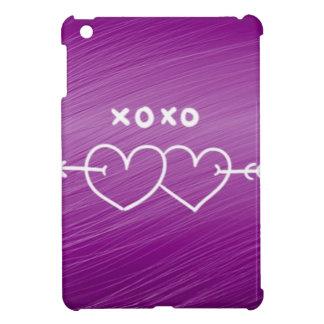 XOXO,hearts,purple (I) iPad Mini Covers