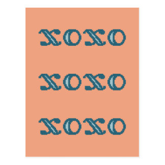 XOXO Hugs and Kisses Post Card