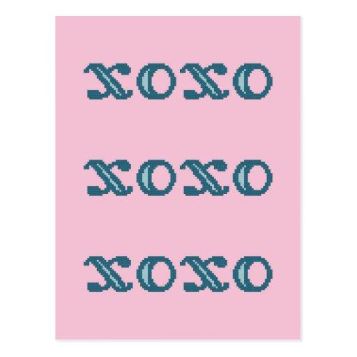 XOXO Hugs and Kisses Postcards