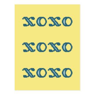 XOXO Hugs and Kisses Postcard