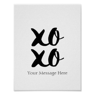 XOXO Hugs and Kisses Romantic Quote Wall Art