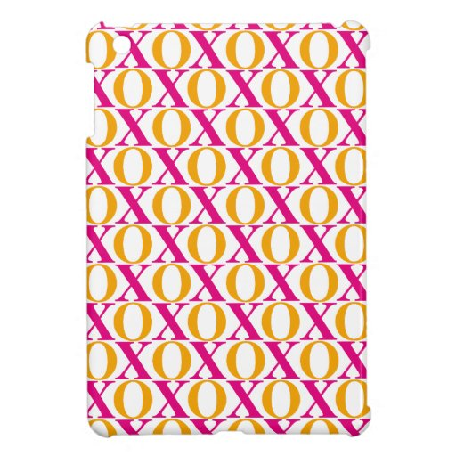 xoxo, hugs and kisses text pattern case for the iPad mini