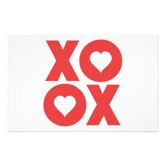 XOXO Hugs and Kisses Valentine's Day Customized Stationery