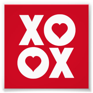 XOXO Hugs and Kisses Valentine's Day Photo Print