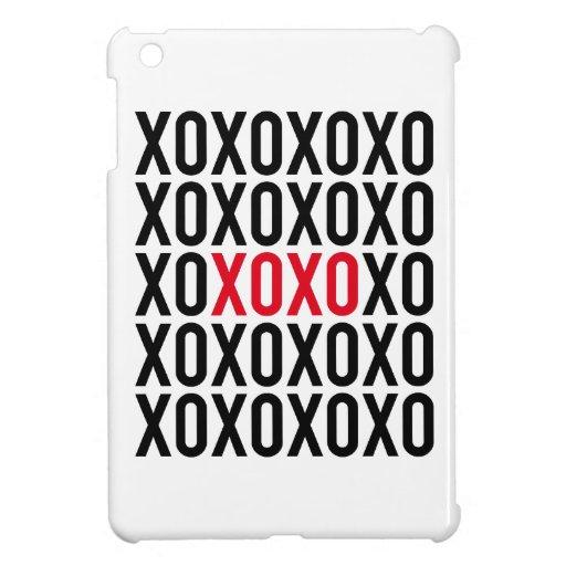XOXO, hugs and kisses, word art, text design iPad Mini Case