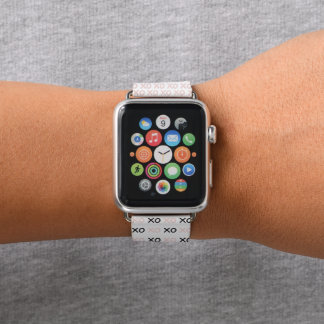 XOXO Hugs Apple Watch Band in Pink and Black