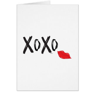 XoXo-Hugs-Kisses-with-Red-Lips Card