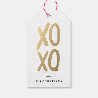 XOXO in White | Gift Tags