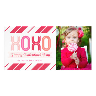 XOXO Love And Kisses Valentine's Day Photo Cards