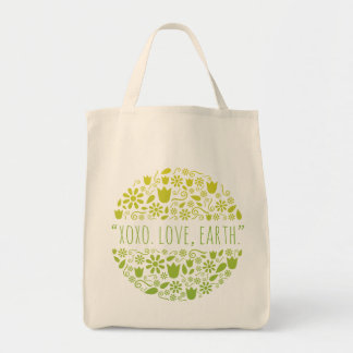 """XOXO. Love, Earth."" Happy Earth Reusable Grocery"