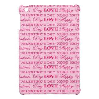 XOXO Love Happy Valentine's Day Pink Print Gifts iPad Mini Covers