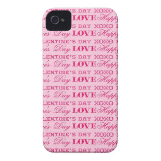 XOXO Love Happy Valentine's Day Pink Print Gifts iPhone 4 Cover