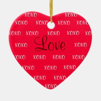 XOXO Love Ornament