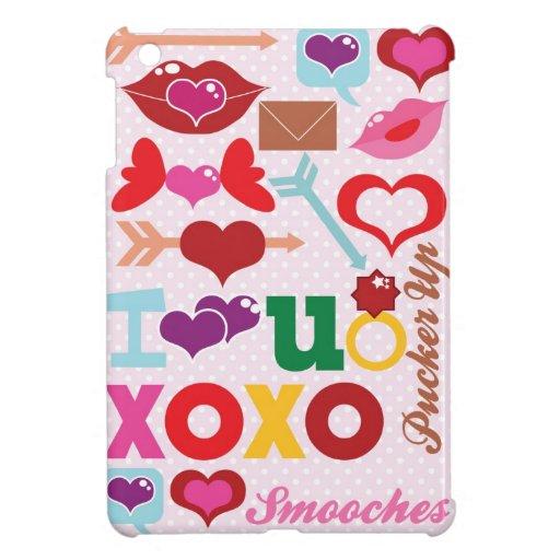xoxo love you valentines gift iPad mini cover