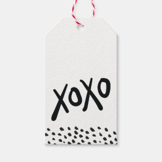 XOXO MODERN HOLIDAY hand lettered paint minimal Gift Tags