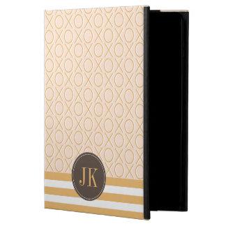 XOXO Monogram Blush Pink and Gold iPad Air Case