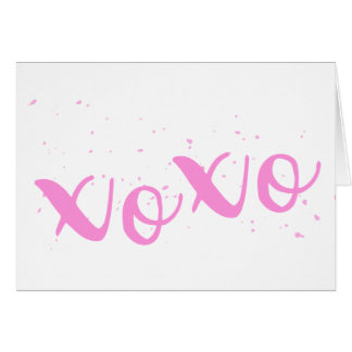 xoxo-Pink Trendy Card