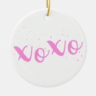 xoxo-Pink Trendy Ceramic Ornament