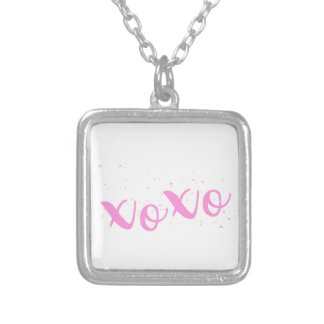 xoxo-Pink Trendy Silver Plated Necklace
