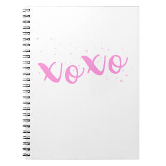 xoxo-Pink Trendy Spiral Notebook