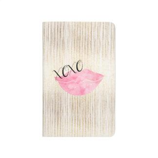 XOXO Pink Watercolor Lips Journal