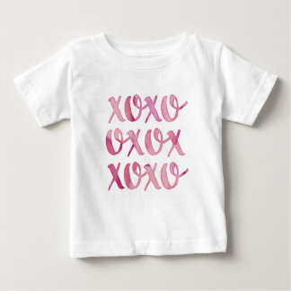 xoxo pink watercolor typography kids T-shirt