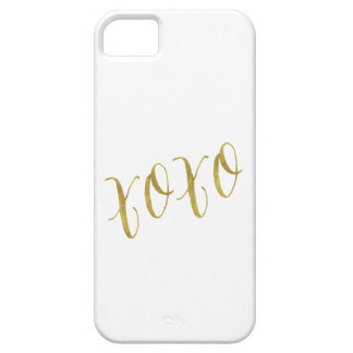 XOXO Quote Faux Gold Glitter Background Template iPhone 5 Case