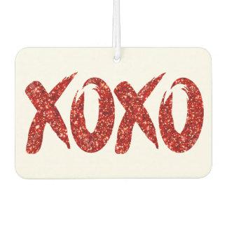 XOXO Red Glitter   Valentines Day Chic Brushstroke Car Air Freshener