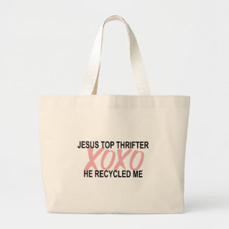 Xoxo...Thrifting Large Tote Bag
