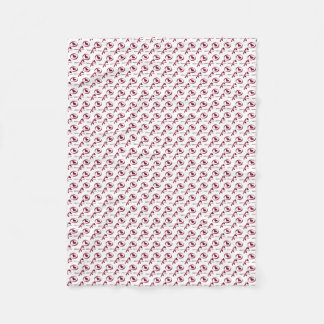 XOXO Valentine's Day Hugs And Kisses Red Hearts Fleece Blanket