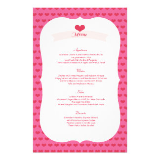 XOXO Valentine's Day Party Menu Decor Set 14 Cm X 21.5 Cm Flyer