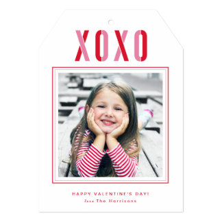 XOXO Valentine's Day Photo Card Personalized