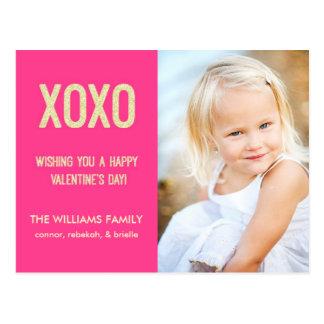 XOXO Valentine's Day Postcard