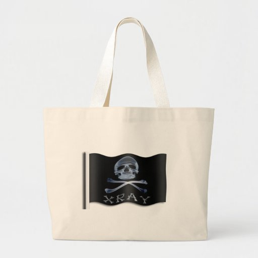 XRAY PIRATE Flag RADIOLOGY JOLLY ROGER Canvas Bag